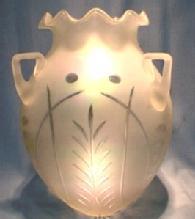 Verre de Soie Art Glass Hanging Basket
