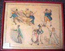 1800's Wit & Humor Print  in Frame- FAL