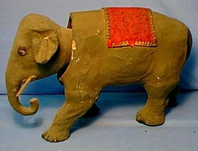 Nodder Paper Mache' Elephant  -  Toys