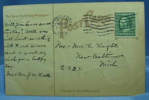 old vintage Black Americana THANKSGIVING Postcard - vintage paper