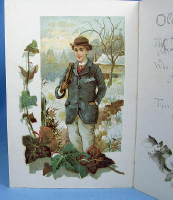 old vintage FROST & SNOW by Charles Mackay 1891 Raphael Tuck Poem Booklet Greeting Card - Victorian Paper