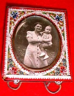 Mosiac Frame Miniature - Porcelain