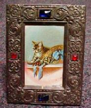 JEWELS in Embossed Czec Frame - Metalware