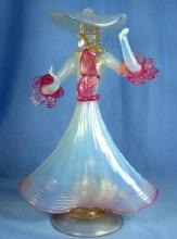Art Deco Dancing Figural Sculptural ~ Itialian MURANO VENETIAN Art Glass Figurine