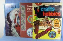 old vintage American Indian Crafts and Beadwork Reference Book Group - Ethnographic how-to
