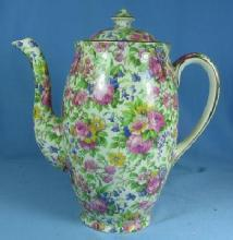 CHINTZ Coffee Chocolate Pot - Royal Winton Porcelain Pottery  Vintage Grimwades SUMMERTIME Pattern