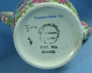 CHINTZ Coffee Chocolate Pot - Royal Winton Porcelain Pottery  Vintage Grimwades SUMMERTIME Pattern