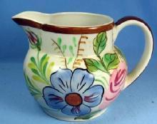 Blue Ridge Pottery PITCHER - Squatty Helen Shape Vintage Florals