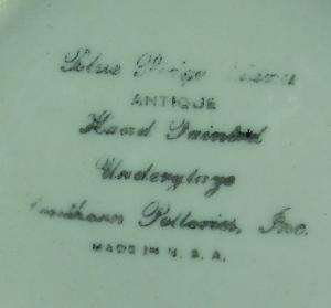 Blue Ridge Pottery PITCHER - Squatty Helen Shape Vintage Florals