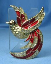 Jewelry  GIORGIO Perfume HUMMINGBIRD Brooch - Vintage Estate Jewelry