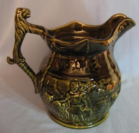 Stoneware Pitcher - Arthur Wood LION Handle Pottery