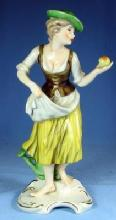 nice old Hummel APPLE GIRL Figurine #FR28 - Vintage Porcelain Figure