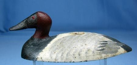 Capt Harry Jobes CANVASBACK Duck Decoy Paperweight - Signed Sporting Metalware - Hunt