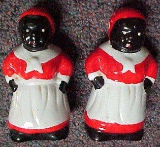 Mammy Salt and Pepper - Porcelain/Fine China