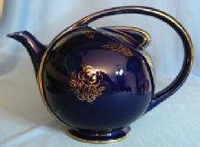 Hall AIRFLOW Teapot - Vintage Cobalt Blue Pottery Tea Pot
