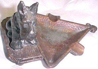 Scottie Dog Figural Ash Tray - Metalware