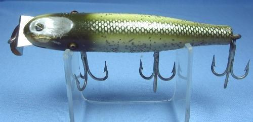 old Creek Chub Famous PIKIE MINNOW Wood Fish Lure - Vintage Sporting