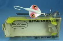 old Fred Arbogast HAWIIAN WIGGLER Fishing Lure # 2 1/2  - Vintage sporting bait
