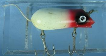 Shakespearre SWIMMING MOUSE Fishing Lure - Vintage Wood Sporting Bait