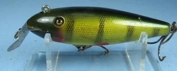 old Creek Chub WIGGLER Fishing Lure #100 - Vintage Wood Bait - sporting