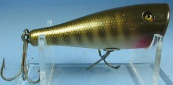 old Creek Chub PLUNKER Fish Lure - Vintage Wooden Sport Bait