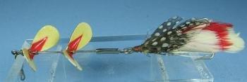 Pflueger Tandem Spinner Fish Lure - Vintage sporting bait