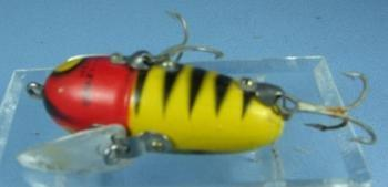 Heddon CRAZY CRAWLER Fish Lure - Vintage Wood Sporting Bait