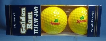 Vintage SQUIRT Advertising Golf Balls - Golden Ram Tour 400 Golf Ball Group - NIB sporting