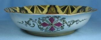Art Deco Pottery Porcelain Bowl - Royal Vienna or Czech