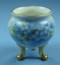 Pottery  Porcelain TOOTHPICK - Hand Painted Blue Flowers