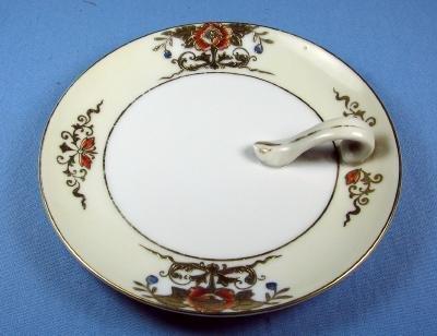 Noritake Hand Painted NAPPY - Handled Dish - Porcelain Lemon Server
