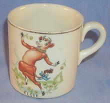 Borden Co. ELSIE Pottery Drinking Mug - Advertising