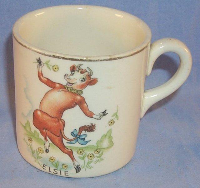 Borden Co. ELSIE Pottery Drinking Mug - Advertising