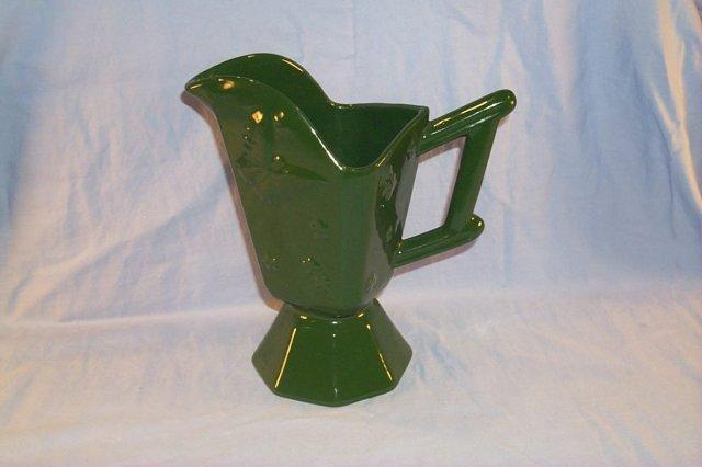 HULL Green Butterfly Pottery Ewer