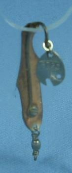 old Pflueger PIPPIN WOBBLER Medim Fish Lure Spoon - Vintage sporting