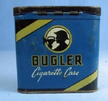 Bugler Cigarette Case - Vintage Advertising Pocket Tin - Tobacciana