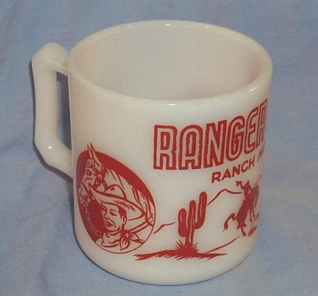 Red RANGER JOE Milk Glass Ranch Mug