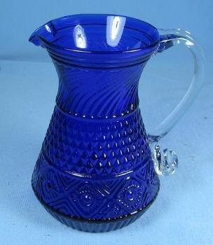 FENTON GLASS VASE vintage Peacock Blue Hobnail Vase Unusual Spouted Lip - Fenton Glass