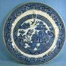Allertons Pottery BLUE WILLOW Divided Dish Grill Plate Hotel Ware