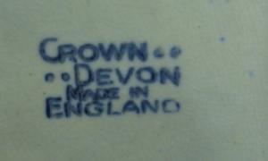 Arts & Crafts Crown Devon Pottery Console Bowl - Rich Mottled Art Deco Art Pottery