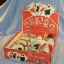 Four CASINO POKER Glass and Coaster Sets in Original Box