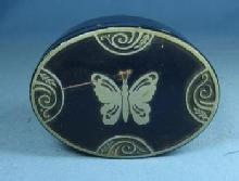 LUCRETIA VANDERBILT No 21 Face Powder - Boudoir Size Advertising Tin -  Vintage antique  Vanity Tin