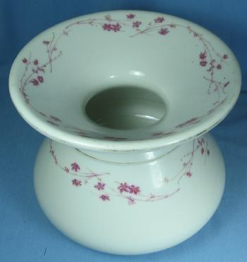 Pink Luster Ironstone SPITTOON - Antique Lustre Pottery Stoneware Cuspidor