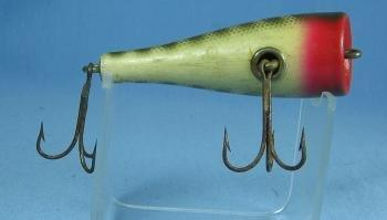Creek Chub PLUNKER Wooden Fishing Lure with Glass Eyes - Vintage Sporting