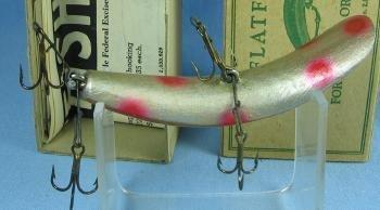 Vintage Helin FLATFISH Fishing Lure - Vintage Wood Tackle with Original Box - sporting