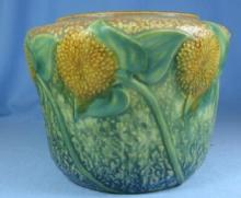 Roseville Pottery SUNFLOWER Art Pottery Vase  -  Antique Pottery