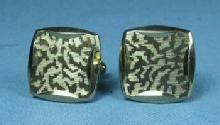 vintage Classic Goldtone Cuff Links by Hickok - Estate Jewelry