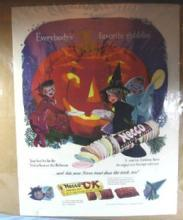 NECCO Candy Advertising HALLOWEEN GOBBLIN  1951 Collier's Magazine Page
