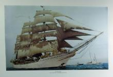 Nautical  TALL SHIPS Print Portfolio Collection - Vintage Sailing Boat Arrangement - FAL