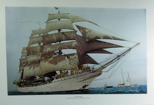 Nautical  TALL SHIPS Print Portfolio Collection - Vintage Sailing Boat Arrangement - FAL